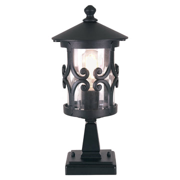 Elstead Lighting BL12 BLACK Hereford 1 Light Pedestal
