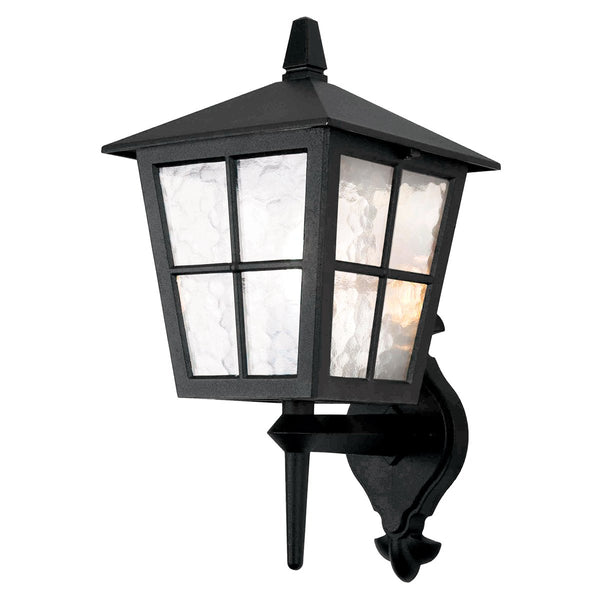 Elstead Lighting BL46M BLACK Canterbury 1 Light Wall Up Light - SND Electrical Ltd