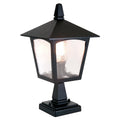 Elstead Lighting BL7 BLACK York 1 Light Pedestal Light