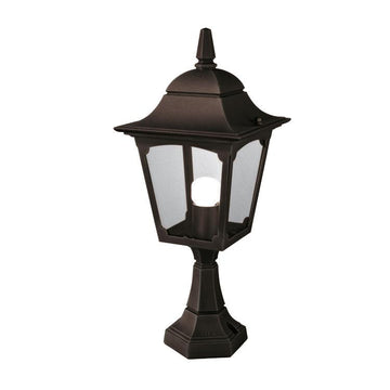 Elstead Lighting CP4 BLACK Chapel 1 Light Pedestal Light