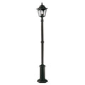 Elstead Lighting CP6 BLACK Chapel 1 Light Lamp Post