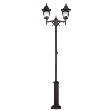 Elstead Lighting CP8 BLACK Chapel 2 Light Twin Post