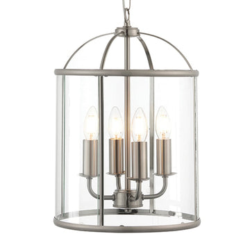 Endon 70324 Lambeth 4 Light Satin Nickel Cage Pendant