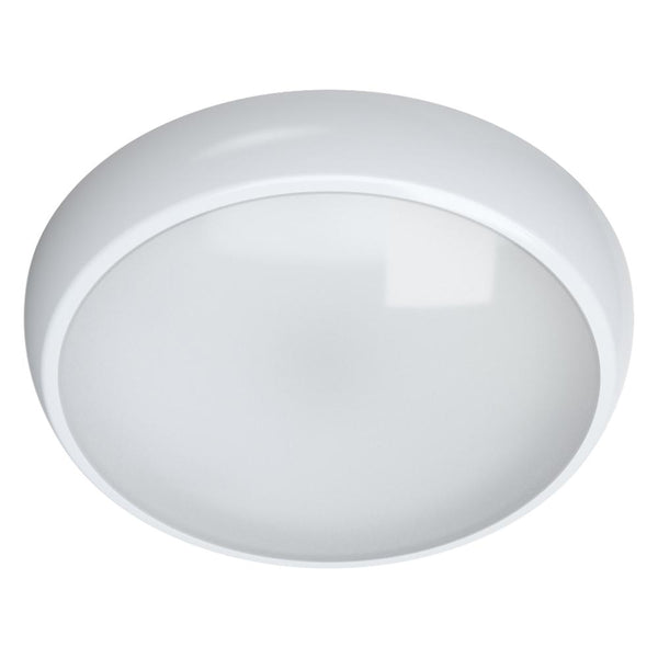Megalux LUNALED/15W/PIR + EMG/6K Emergency & Sensor 15w 6000k Luna LED Bulkhead - SND Electrical Ltd