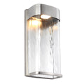 Feiss FE/BENNIE/L PBS Bennie 1 Light Large LED Wall Light - Painted Brushed Steel