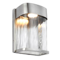 Feiss FE/BENNIE/S PBS Bennie 1 Light Small LED Wall Light - Painted Brushed Steel