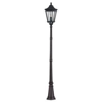 Feiss FE/COTSLN5/L BK Cotswold Lane 3 Light Large Post - Black
