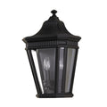 Feiss FE/COTSLN7 BK Cotswold Lane 2 Light Half Wall Light - Black