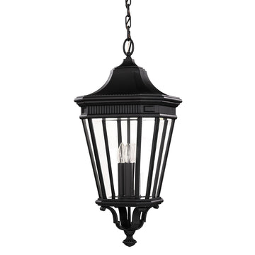 Feiss FE/COTSLN8/L BK Cotswold Lane 3 Light Large hanging-lantern - Black