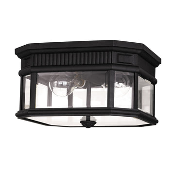 Feiss FE/COTSLN/F BK Cotswold Lane 2 Light Flush Ceiling Mount - Black