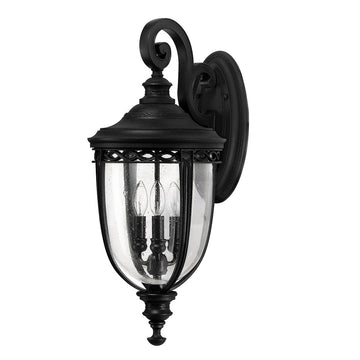 Feiss FE/EB2/L BLK English Bridle 3 Light Large Wall Light - Black
