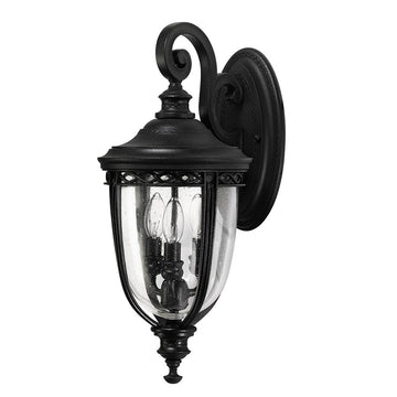Feiss FE/EB2/M BLK English Bridle 3 Light Medium Wall Light - Black