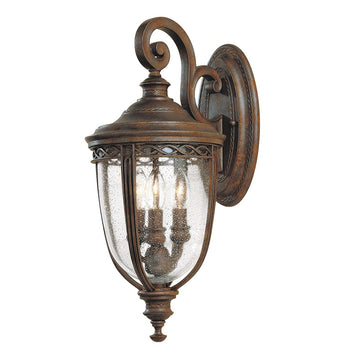Feiss FE/EB2/M BRB English Bridle 3 Light Medium Wall Light - British Bronze