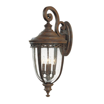 Feiss FE/EB2/XL BRB English Bridle 4 Light X Large Wall Light - British Bronze