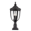 Feiss FE/EB3/L BLK English Bridle 3 Light Large Pedestal - Black