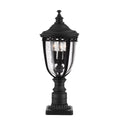 Feiss FE/EB3/M BLK English Bridle 3 Light Medium Pedestal - Black