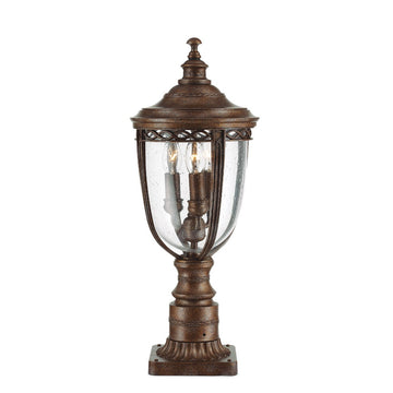 Feiss FE/EB3/M BRB English Bridle 3 Light Medium Pedestal - British Bronze
