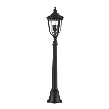 Feiss FE/EB4/M BLK English Bridle 3 Light Medium Pillar - Light Black