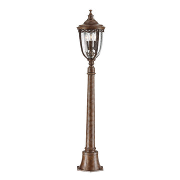 Feiss FE/EB4/M BRB English Bridle 3 Light Medium Pillar Light - British Bronze