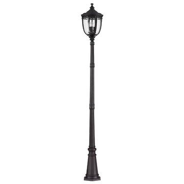 Feiss FE/EB5/L BLK English Bridle 3 Light Large Lamp Post - Black