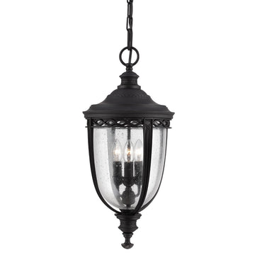 Feiss FE/EB8/L BLK English Bridle 3 Light Large Hanging Lantern - Black