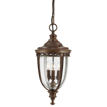 Feiss FE/EB8/L BRB English Bridle 3 Light Large hanging-lantern - British Bronze