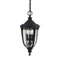 Feiss FE/EB8/M BLK English Bridle 3 Light Medium Hanging Lantern