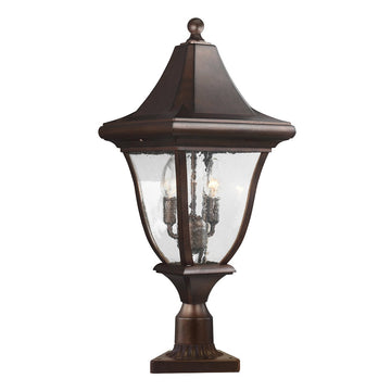 Feiss FE/OAKMONT3/M Oakmont 3 Light Medium Post Light