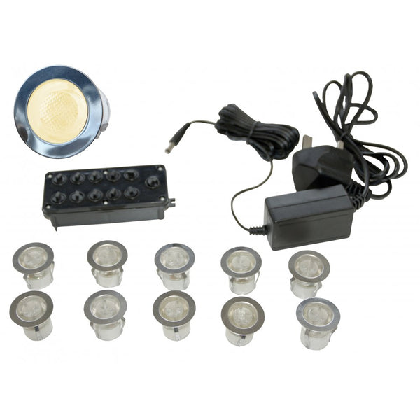 Gap Lighting LED-MIDI-WW 10 light LED kit including in-line driver and junction box 3000k Warm White