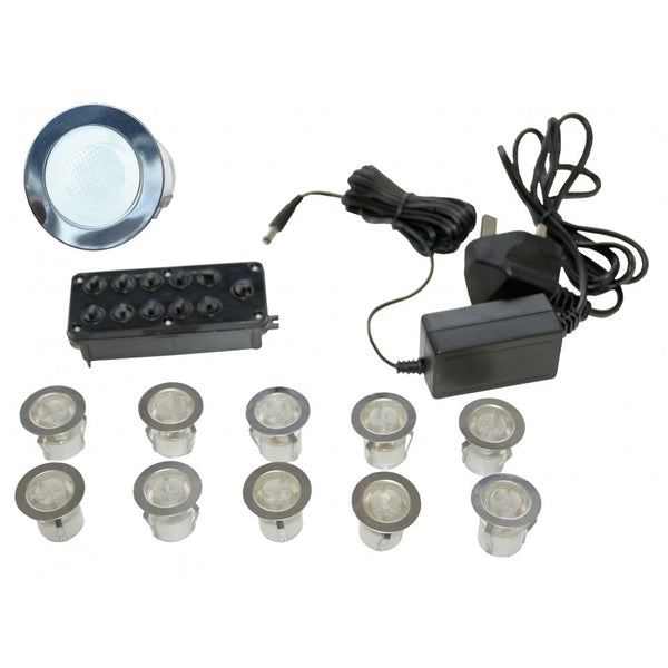 Gap Lighting LED-MIDI-W 10 light LED kit including in-line driver and junction box 6000k