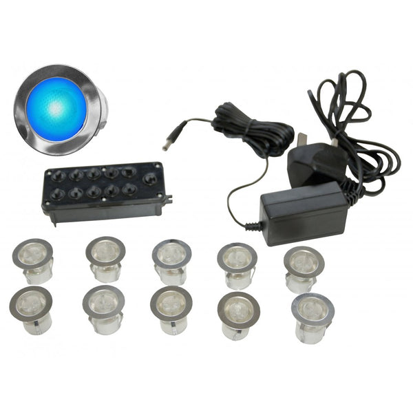 Gap Lighting LED-MIDI-B 10 light LED kit including in-line driver and junction box Blue