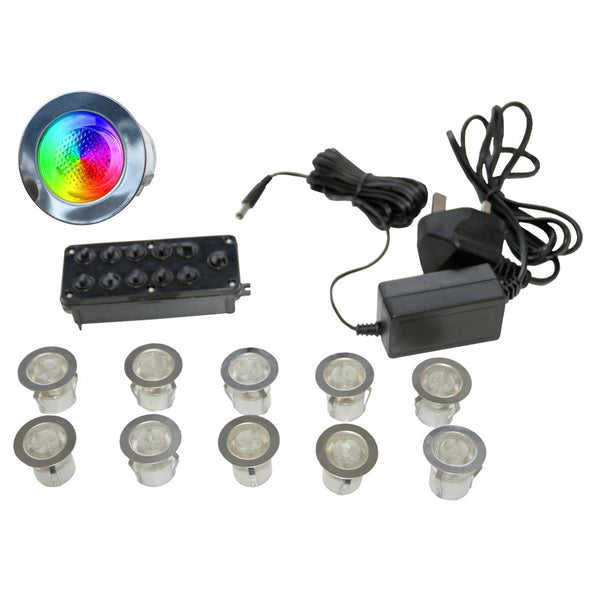Gap Lighting LED-MIDI-RGB RGB 10 light LED kit including in-line driver and junction box