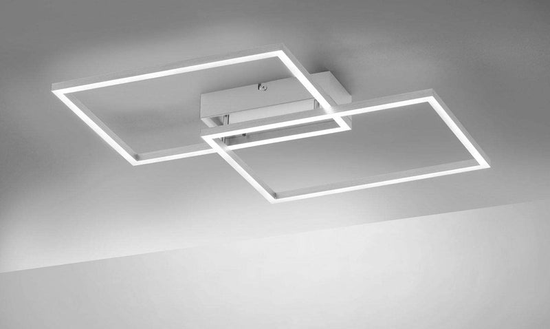 5581041 Small 2 Light LED Flush Ceiling Fitting - Colour Changing with Remote