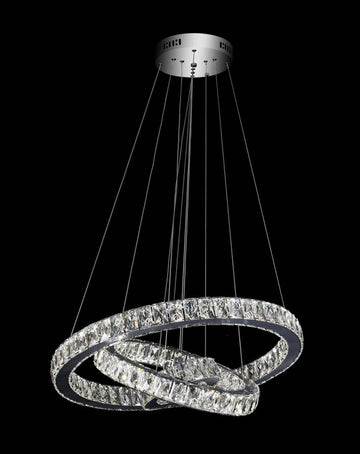 3 Ring Pendant Remote Colour Changing LED Chandelier