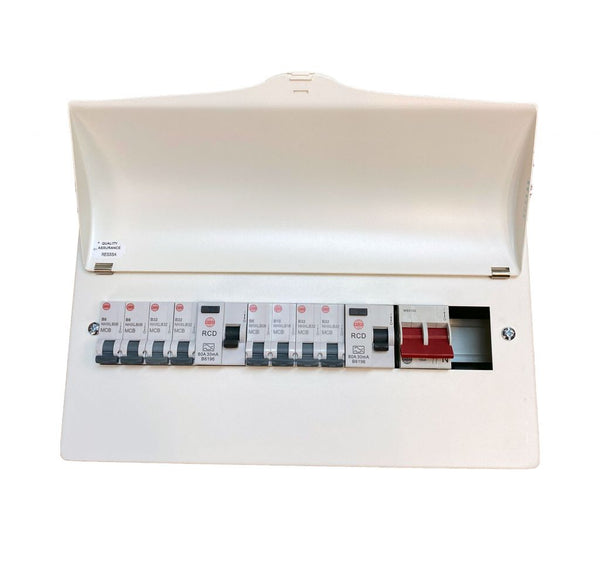 Wylex WNM1769 10 Ways Dual RCD 18th Edition Consumer Unit c/w 8 MCB's