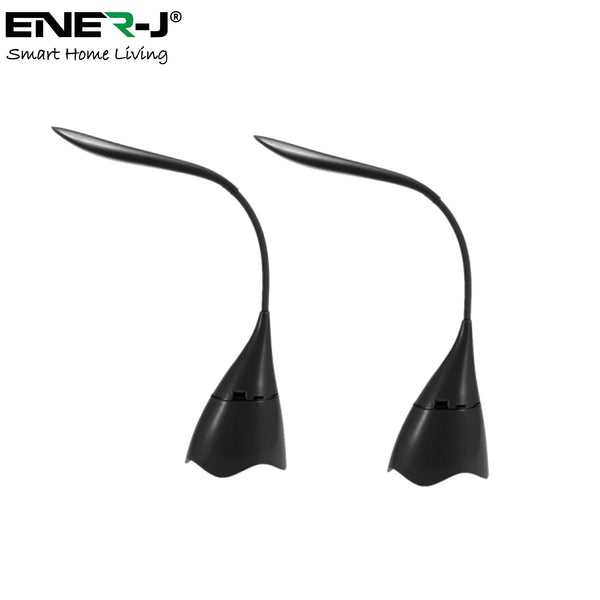 *Pack of 2* Ener-J LED Desk Lamp with Bluetooth Speaker