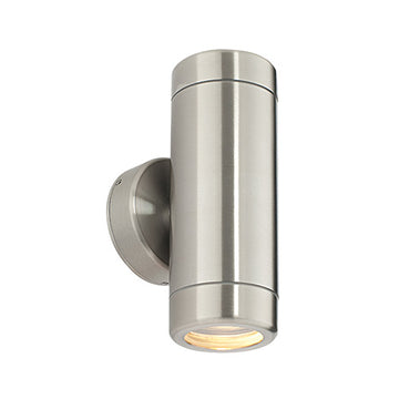 Endon ST5008S Odyssey Outdoor 2 Light Wall Light Stainless Steel