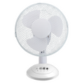 "Ced TF12N 12"" 35W 3 Speed White Desk Fan"