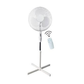"Ced PF16RT 16"" 45W 3 Spd White Pedestal Fan Remote Control"