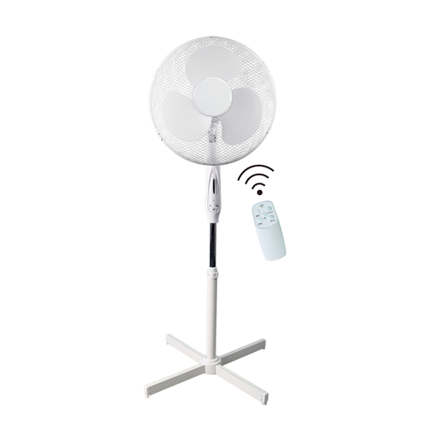 "Ced PF16RT 16"" 45W 3 Spd White Pedestal Fan Remote Control - SND Electrical Ltd"