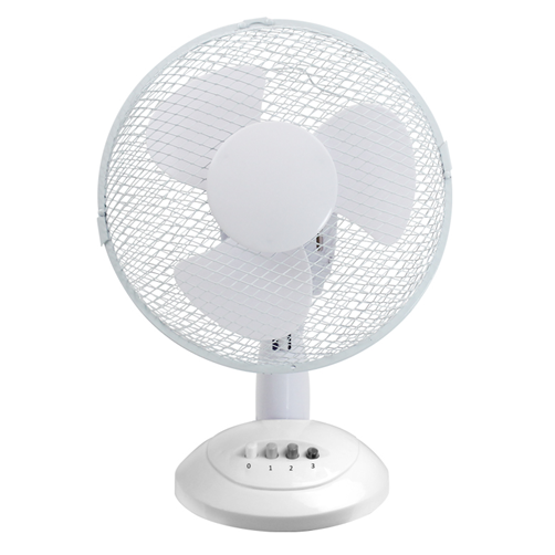 "Ced TF12N 12"" 35W 3 Speed White Desk Fan - SND Electrical Ltd"