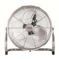 Ced HVF18 High Velocity 3 Speed Heavy Duty Tilt Pedestal Fan 160W 240V With Chrome Guard & Black Blades