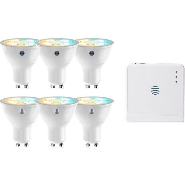 Hive Active Light GU10 Cool to Warm White GU10 6 pack with Hive Hub