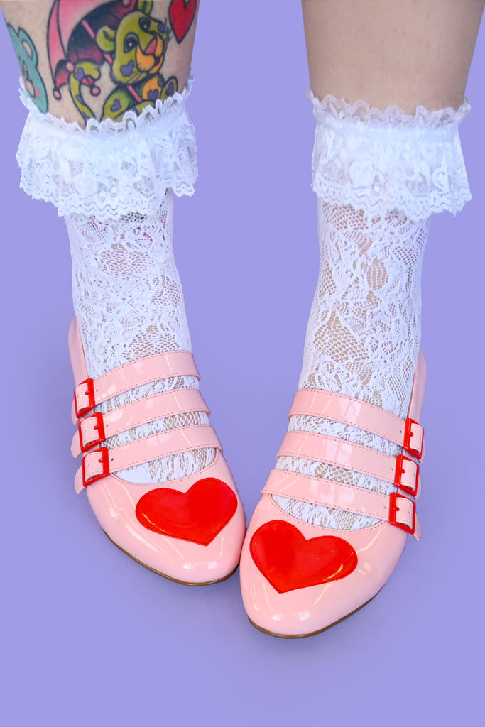 Ruffled Lace Ankle Socks