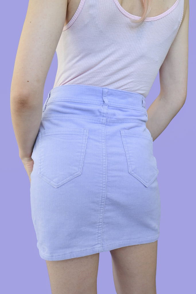 Corduroy Mini Skirt - Lavender