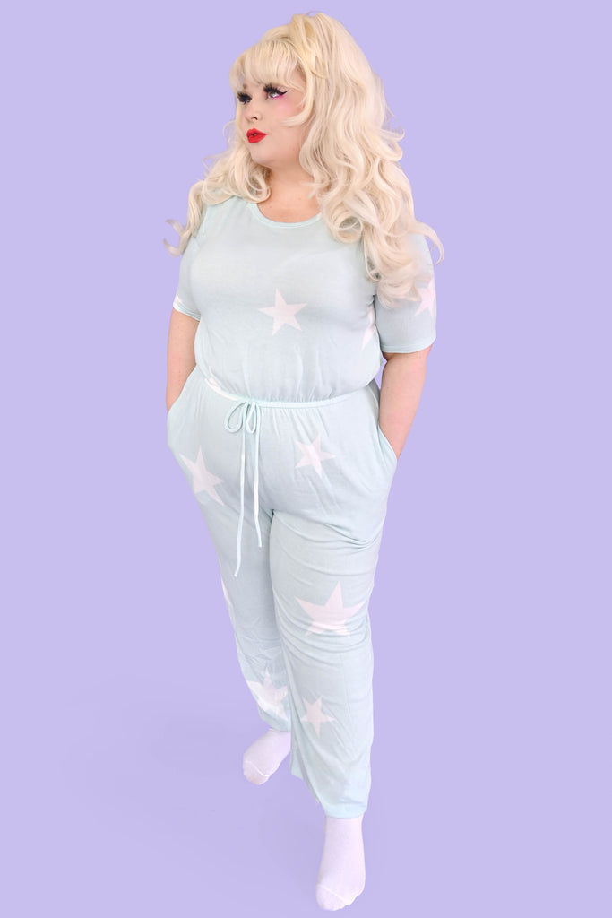 Sweet Star Mint Lounge Jumpsuit