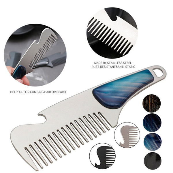 Stainless Steel Beard Shaping Template – The Man Care