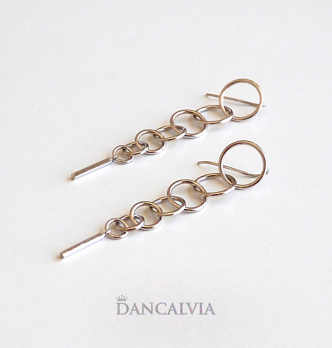 925 Sterling Silver Loops Earring