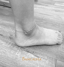 Load image into Gallery viewer, 925 Sterling Silver Anklet With Silver Beads Charm