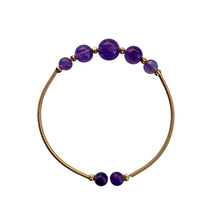 Load image into Gallery viewer, Flexible Amethyst Beaded Bangle